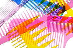 Free Set Multi-coloured Transparent Combs Stock Photography - 21967312