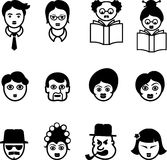 Set of Multi Cultural Faces Royalty Free Stock Image