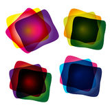 Set of multicolor abstract banners Stock Photos