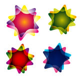 Set of multicolor abstract elements Stock Image