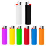 Set of Multicolor closeup cigarette lighters Stock Images