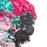 Set of multicolor crushed eyeshadows Stock Images
