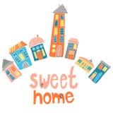 Set multicolor domy Fotografia Royalty Free