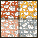 Set of multicolor hand drawn seamless vector pattern with linear Stock Photos