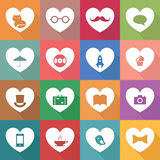 Set of multicolor icons Stock Photos