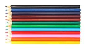 Set of multicolor pencils Stock Photos