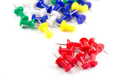 Set of multicolor push pins Royalty Free Stock Photo