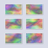 Set of Multicolor Rainbow Business Cards. Stock Photography