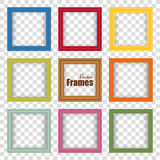 Set of multicolor realistic frames with shadow Royalty Free Stock Photo