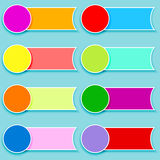 Set of multicolor tags Royalty Free Stock Photo