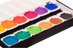 Watercolor paints Stock Photos