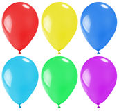 Set of multicolored balloons Stock Photo