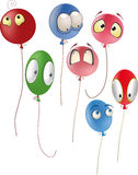 Set of multicolored balloons. Cartoon celebration Stock Photos