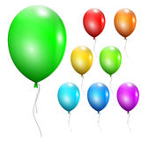 Set of multicolored balloons Royalty Free Stock Photo