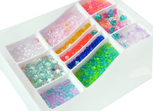 Set of multicolored beads Stock Images