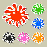 Set of multicolored blots Royalty Free Stock Photography