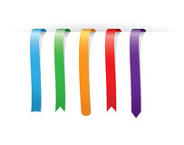 Set of multicolored bookmarks Royalty Free Stock Photos