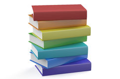 Set of multicolored books Royalty Free Stock Photography
