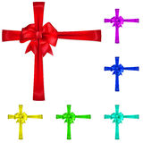 Set of multicolored bows Royalty Free Stock Photo