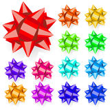Set of multicolored bows. Flat design Royalty Free Stock Photos