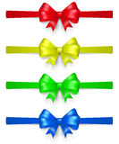 Set of multicolored bows Stock Photography