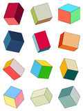 Set of multicolored bricks. Royalty Free Stock Images