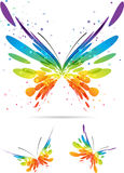 Set of multicolored butterflies Stock Photos