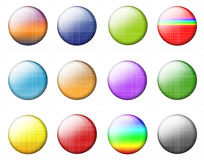 Set Multicolored Buttons Stock Images
