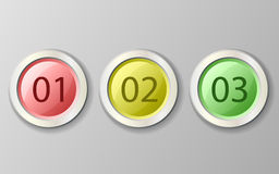 Set of multicolored buttons Stock Photos