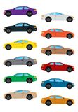 Set of multicolored car. Isolated vector illustration Royalty Free Stock Photography