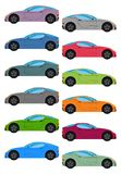 Set of multicolored car Stock Photos