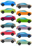 Set of multicolored car Royalty Free Stock Photos
