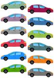Set of multicolored car Royalty Free Stock Image