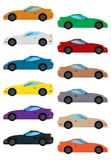 Set of multicolored car. Isolated vector illustration Stock Images