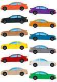 Set of multicolored car. Isolated vector illustration Stock Image