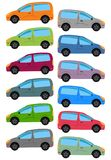 Set of multicolored car Royalty Free Stock Photography