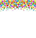 Set of multicolored circles isolated on white Royalty Free Stock Photo
