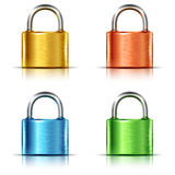 Set of multicolored closed padlocks Royalty Free Stock Photos