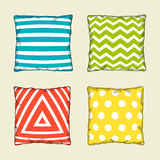 Set of multicolored decorative pillows. Sketch illustration Royalty Free Stock Photos
