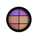Set of 5 multicolored eye shadows isolated on white Stock Photography