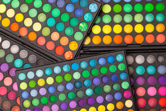 Set Multicolored Eyeshadows Stock Image