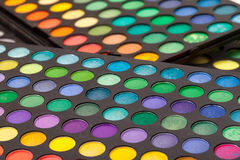 Set of Multicolored Eyeshadows Stock Images