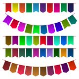 Set of multicolored flags for design. Vector illustration Royalty Free Stock Photo