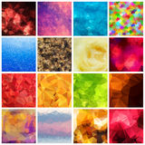 Set of multicolored geometric polygonal Stock Photos
