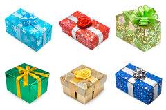Set of multicolored gift boxes -1 Royalty Free Stock Photo