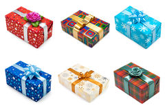 Set of multicolored gift boxes -2 Stock Images