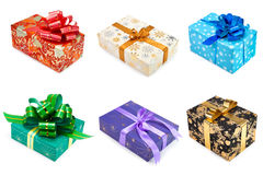 Set of multicolored gift boxes -3 Stock Images