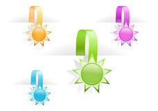 Set of multicolored glossy tag labels Stock Photos