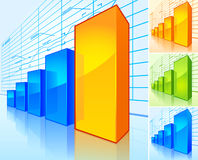 Growing charts Royalty Free Stock Images