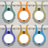 Set of multicolored hanging banners.  Stock Illustration